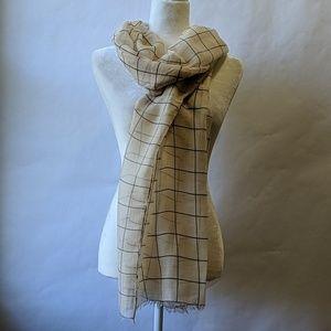 Rachel Pally summer scarf cream grid (new)